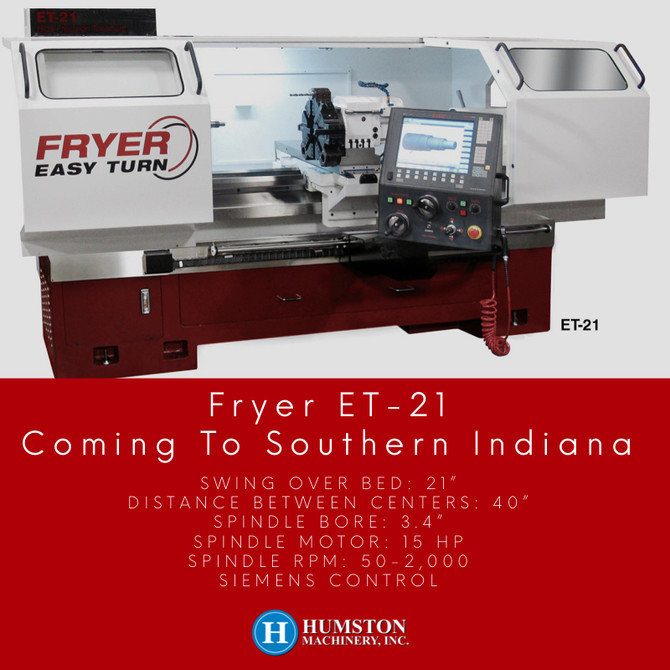 Fryer ET-21 coming to Southern Indian