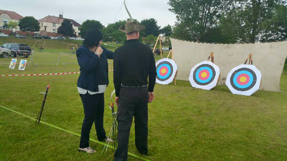 trying my hand at archery