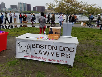 Charles River - Boston Dog Lawyers stall