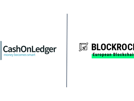CashOnLedger accelerates blockchain as BLOCKROCKET member