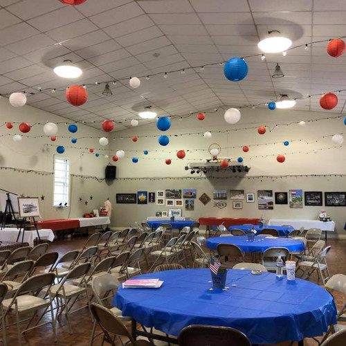 Gym decorated for event