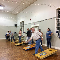 Gym holding a cornhole tournament