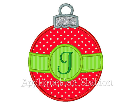 Round Christmas Ornament with Band