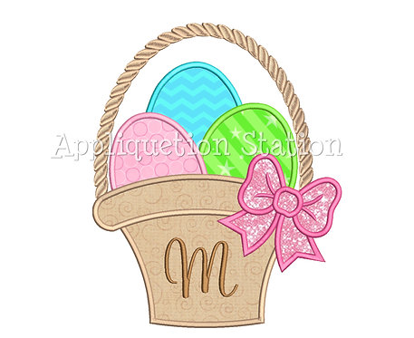 Easter Basket for Initial