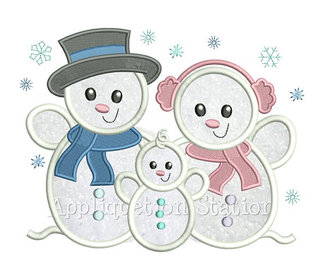 Snowman Family 1 Child / Grandchild