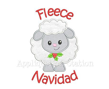 Fleece Feliz Navidad Christmas Lamb