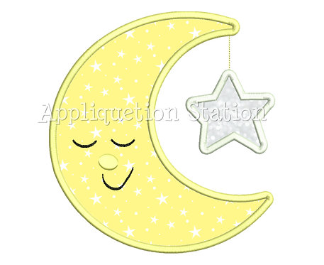 Moon with Hanging Star Asleep