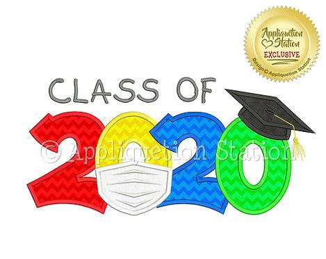 Class of 2020 Graduation Cap Mask