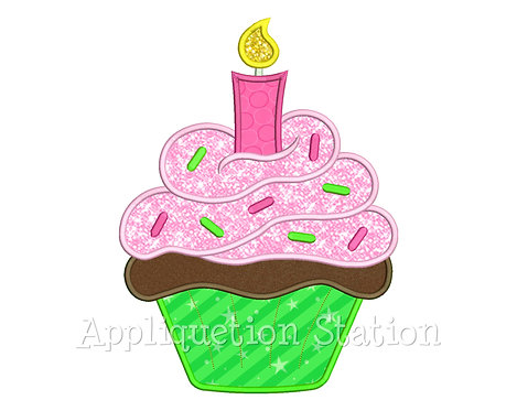 Cupcake Birthday Candle