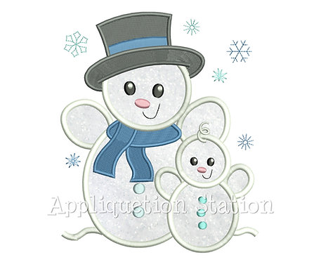 Snowman Dad and Baby