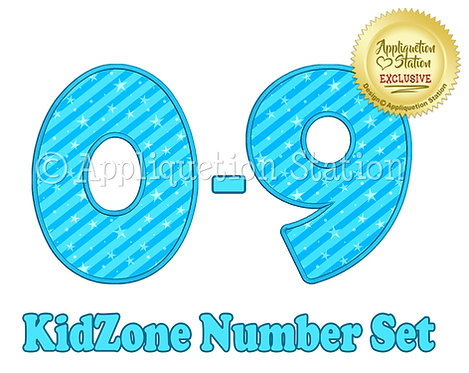 Kidzone Applique Number Set BX