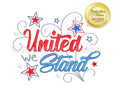 United we Stand Word Art