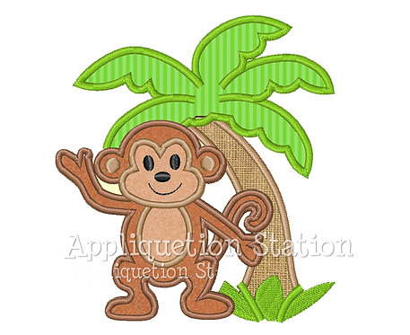 Monkey with Palm Tree