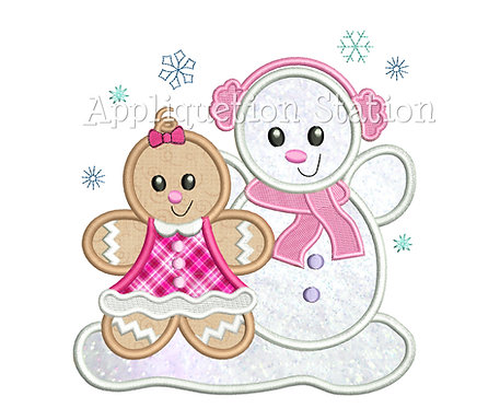 Ginger Baby Girl with Snowman