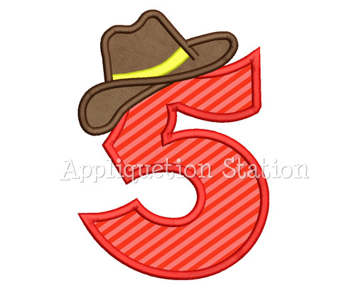 2214d21cc8415 Number 5 Five Cowboy Hat 5th Birthday Applique Machine Embroidery Design  boy fifth INSTANT DOWNLOAD