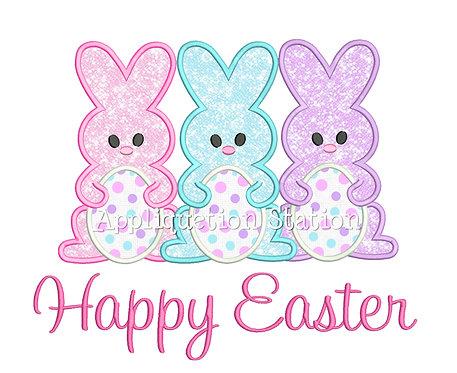 Bunny Trio Happy Easter