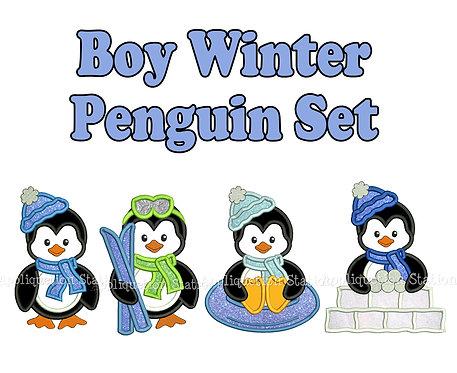 Winter Penguin Boy Set