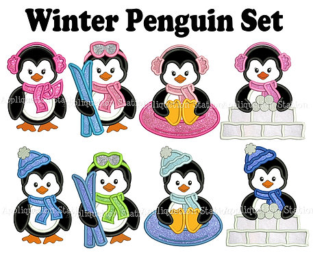 Complete Winter Penguin Set