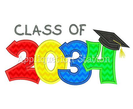Class of 2034 Graduation Cap