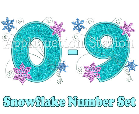 Snowflake Number Set