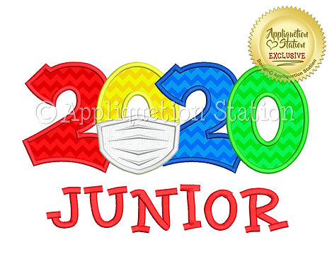 2020 with mask School Junior