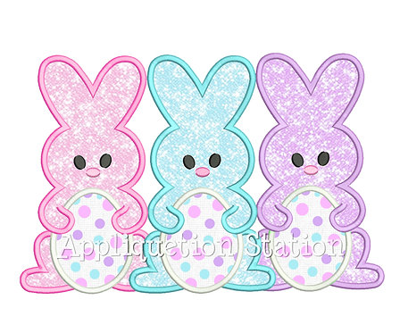 Bunny with Easter Egg Trio