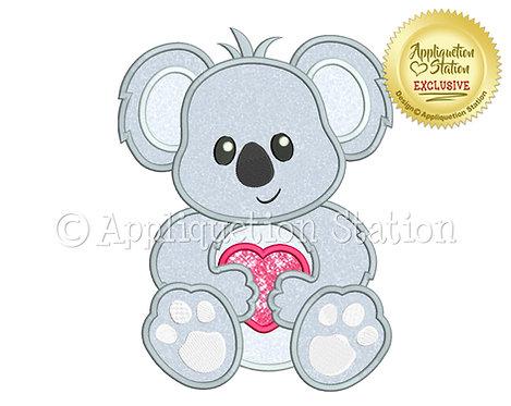 Baby Koala with Heart