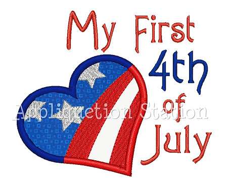 My 1st 4th of July Heart