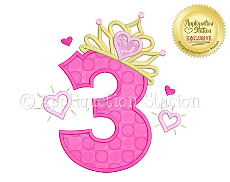 Princess Tiara with Hearts Number 3