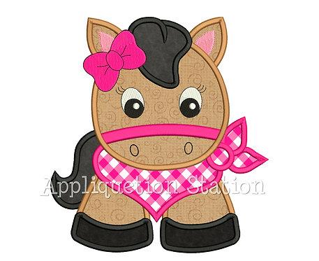 Bandana Baby Girl Horse