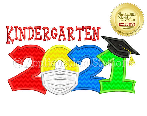 Kindergarten 2021 Grad with Covid Mask