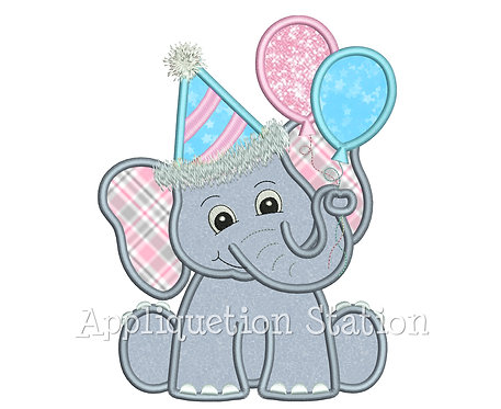 Elephant with Party Balloons