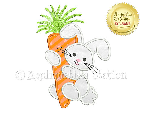 Easter Bunny Hugging Carrot