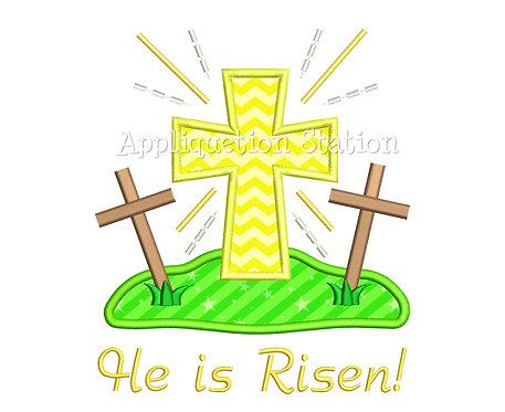 Cross on a Hill He Is Risen