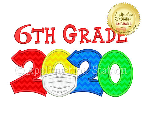 2020 with mask School 6th Grade