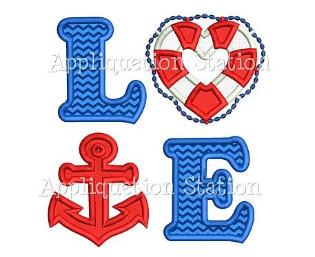 LOVE Nautical Anchor