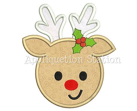 Round Reindeer Head