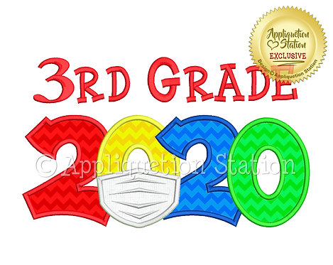 2020 with mask School 3rd Grade