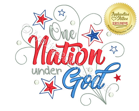 One Nation Under God Word Art
