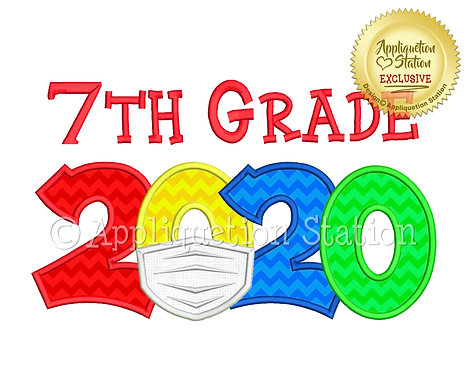 2020 with mask School 7th Grade