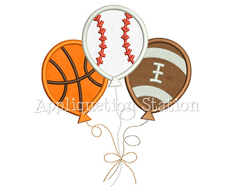 Sports Ball Balloon Trio