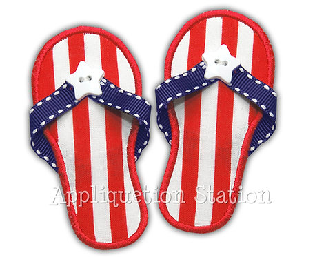 Flip-flop Sandals with Real Ribbon