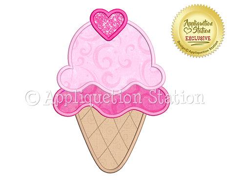 Double Ice Cream Cone
