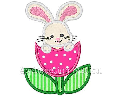 Bunny In Tulip