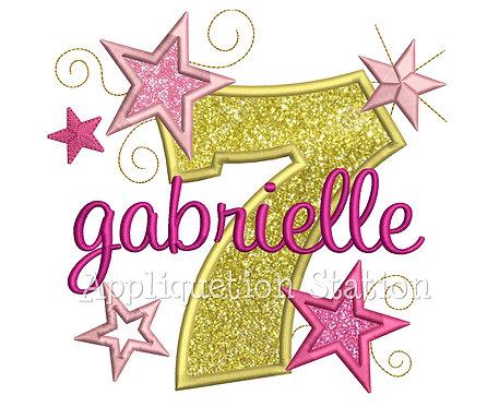 Stars and Swirls Number 7