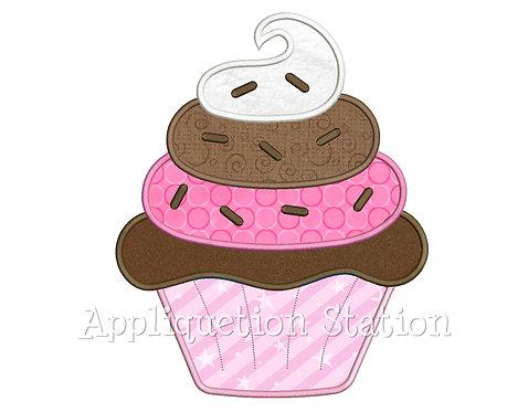 Neopolitan Cupcake