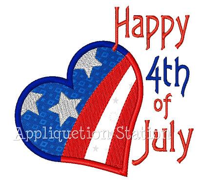 Heart Happy 4th of July