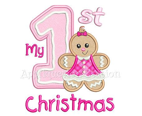 Ginger Baby Girl 1st Christmas