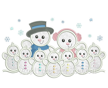 Snowman Family 7 Children / Grandchildren