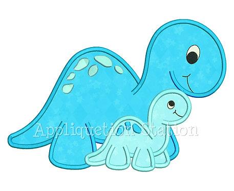 Dinosaur Mom and Baby